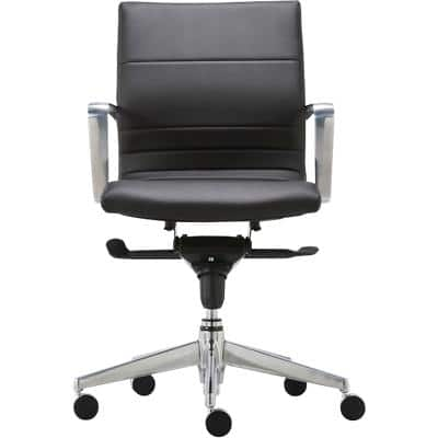 Realspace Synchro Tilt Executive Chair with Adjustable Armrest Ares Fabric Black