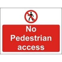 Site Sign No Pedestrians PVC 45 x 60 cm