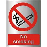 Prohibition Sign No Smoking Aluminium 20 x 15 cm