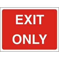 Site Sign Exit Only PVC 45 x 60 cm