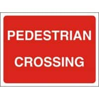 Site Sign Pedestrian Crossing Fluted board 45 x 60 cm