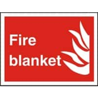 Fire Sign Fire Blanket Vinyl 15 x 20 cm