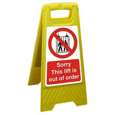Floor Sign Lift Out Polypropylene 60 x 30 cm