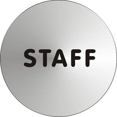 Office Sign Staff Aluminium Silver, Black 72mm Diameter