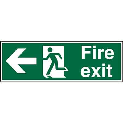 Fire Exit Sign Left Arrow Vinyl 20 x 60 cm