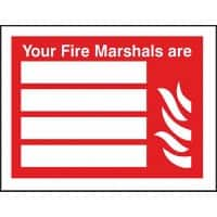Exit Sign Fire Marshalls Vinyl Red, White 15 x 20 cm