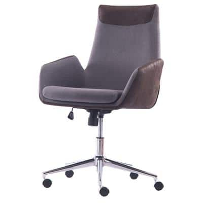 Realspace Home Office Chair Oliver Without Arms Fabric Brown, Grey