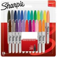 Sharpie Permanent Marker Fine Bullet Assorted Pack of 24