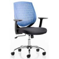 dynamic Basic Tilt Task Office Chair with Armrest and Adjustable Seat Dura Blue