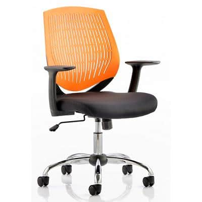 dynamic Basic Tilt Task Office Chair with Armrest and Adjustable Seat Dura Orange