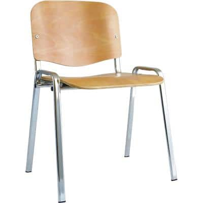 Dynamic Stacking Chair Iso Beech Pack of 4