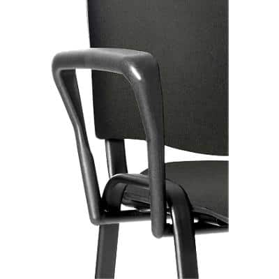 Trexus Arm Set for Stackable Chair Black Pack of 2