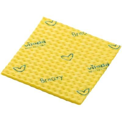 Vileda Semi-Disposable Cleaning Cloth Breazy Yellow 36 x 35cm Pack of 25