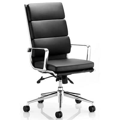 dynamic Synchro Tilt Executive Chair with Armrest and Adjustable Seat Savoy Bonded Leather High Back Black