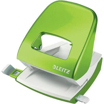 Leitz NeXXt WOW Metal 2 Hole Punch 5008 30 Sheets Green