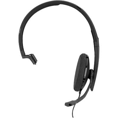 EPOS Sennheiser SC 130 USB-A Wired Headset Over-the-Head Style With Noise-Cancelling Microphone Black