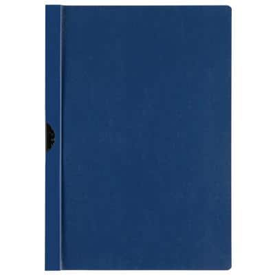 Niceday Clip File A4 Dark Blue 6mm Pack of 25