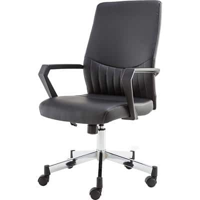 Alphason Basic Tilt Office Chair with Armrest and Adjustable Seat Brooklyn Black