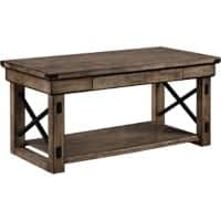 Alphason Coffee Table 5056096PCOM Rustic Grey 559 x 559 x 511 mm