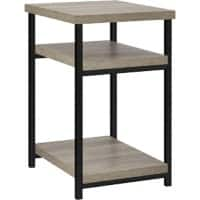 Alphason Rectangular End Table with Grey Oak Coloured MDF Top and Grey Oak Coloured Frame 5048096PCOM 376 x 457 x 602mm