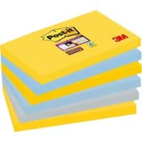 Post-it Super Sticky Notes 127 x 76 mm New York Assorted Colours 6 Pads of 90 Sheets