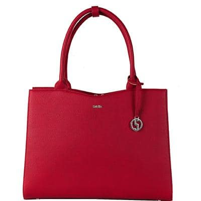 SOCHA Ladies Laptop Bag Cherry Red Midi 13.3 Inch Synthetic Leather Red 36 x 12 x 29 cm