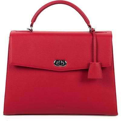 SOCHA Ladies Laptop Bag Audrey Cherry 13.3 Inch Synthetic Leather Red 40 x 12 x 28.5 cm