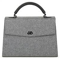 SOCHA Ladies Laptop Bag Audrey Tweed 13.3 Inch Synthetic Leather Light Grey 40 x 12 x 28.5 cm