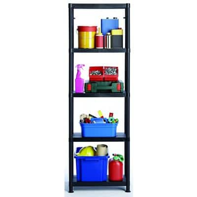 SLINGSBY Modular Shelving Unit 300 x 600 x 1840mm Black