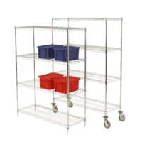 SLINGSBY Shelving Unit Silver 457 x 1,219 x 1,590 mm