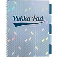 Pukka Pad Glee A4 Wirebound Light Blue Card Cover Project Book Ruled 200 Pages