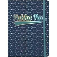 Pukka Pad Glee A5 Casebound Dark Blue Card Cover Journal Ruled 192 Pages