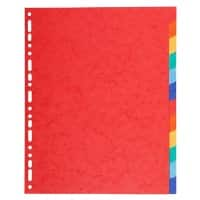 Exacompta Dividers 2112E A4+ Assorted 12 Part 220gsm Recycled Board Pack of 25