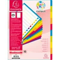 Exacompta Dividers 3810E A4 Assorted 10 tabs plastic