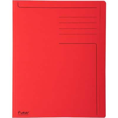 Exacompta Square Cut Folders 441003E A4 Red Recycled Board 24 x 31.5 cm Pack of 100