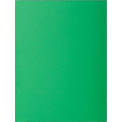 Exacompta Square Cut Folders 217104E A4 Dark Green 210gsm Card 24x32cm Pack of 100