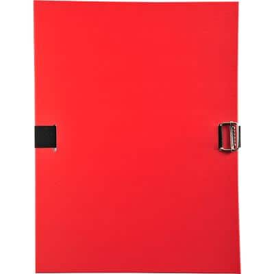 Exacompta Expanding File 30109H A4 Red Recycled Board 24 x 32 cm Pack of 10