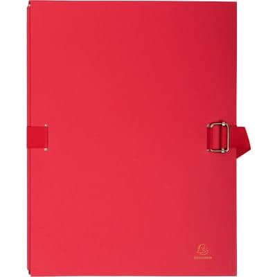 Exacompta Multipart File 223275E A4 Red Coated Card 24 x 32 cm Pack of 10
