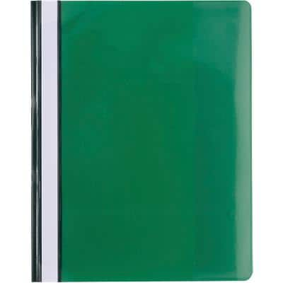 Exacompta Presentation Folders 439915B A4 Green PVC Pack of 10