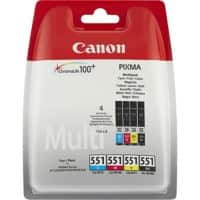 Canon CLI-551 Original Ink Cartridge Black & 3 Colours Pack of 4