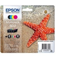 Epson 603 Original Ink Cartridge C13T03U64010 Black, Cyan, Magenta, Yellow 4 Pieces