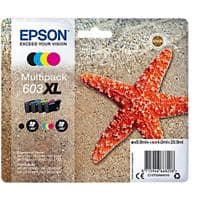 Epson 603XL Original Ink Cartridge C13T03A64010 Black, Cyan, Magenta, Yellow 4 Pieces