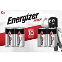 Energizer C Alkaline Batteries Max LR14 1.5V Pack of 4