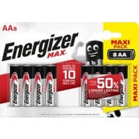Energizer AA Alkaline Batteries Max LR6 1.5V 8 Pieces