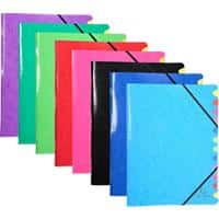 Exacompta Multipart File 541229E 12 Part 24 x 32 cm Assorted Pressboard Pack of 8