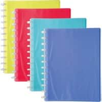 Exacompta Display Book 56277E A4 Assorted 20 Pockets Pack of 4
