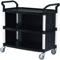 SLINGSBY Service Trolley with 3 Shelves 384020 Plastic Black 52 x 110 x 102 cm