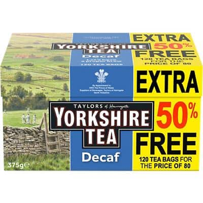 Yorkshire Tea Decaf Tea Bags 120 Pieces