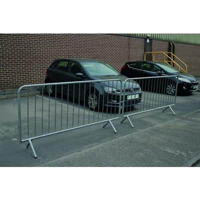Protective Barrier Fixed Leg Silver 230 x 1.27 x 110 cm