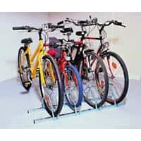 Cycle Racks 4-Bike Capacity Silver 33 x 124 x 26.6 cm